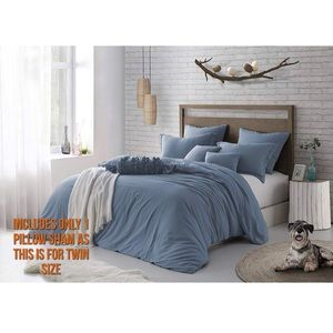 Other - Microfibre Washed Wrinkle 2pc Duvet Cover Set